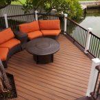 octagon shape deck finsh top view