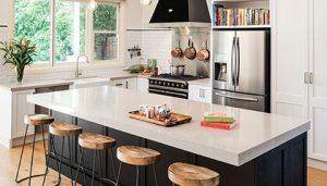 white and black kitchen finish