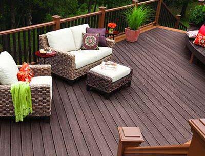 diagonal wood deck