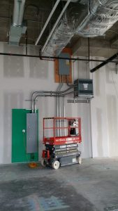 panel and hanging transformer electrical service