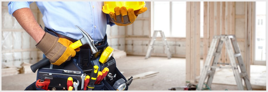 worker construction banner