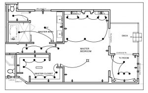 electrical plan residential drawing