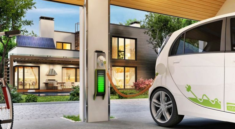 electric vehicle outlet in garage