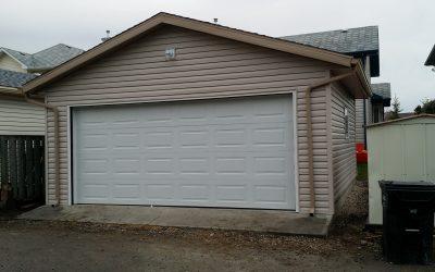 20 x 20 garage install in NW Calgary