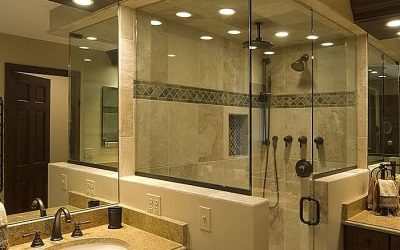 bathroom with walkin shower