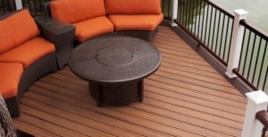 octagon shape deck finsh top view