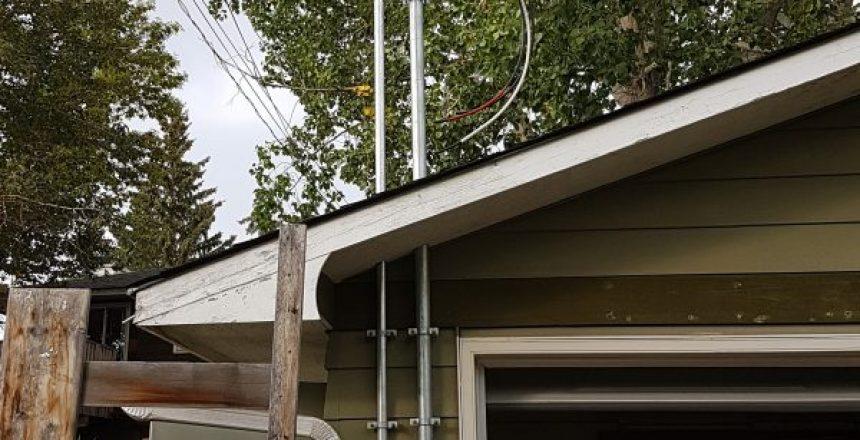 overhead electrical service